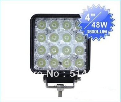 ФОТО Free shipping !!!One pair 4inch 48W LED Spot Flood light Truck Trailer 3500 lm led work light Mining Lamp off-road driving