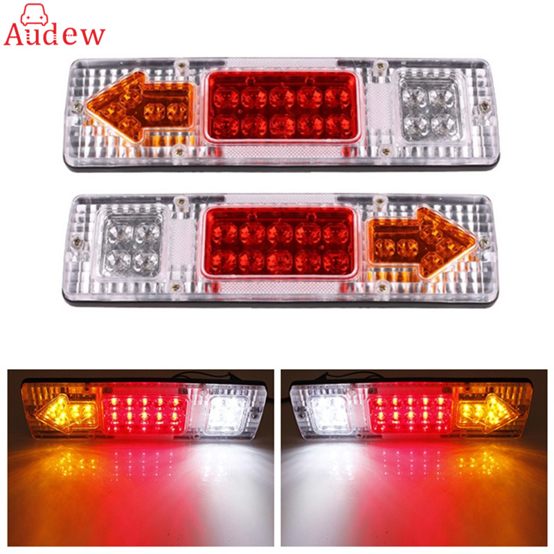 2pcs 12v caravan led trailer tail lights led rear turn signal truck trailer lorry stop rear tail. Black Bedroom Furniture Sets. Home Design Ideas