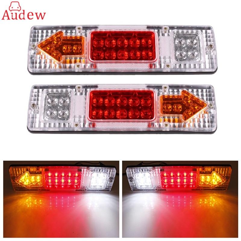 2Pcs 12v Caravan Led Trailer Tail Lights LED Rear Turn Signal Truck Trailer Lorry Stop Rear Tail Indicator Light Lamp