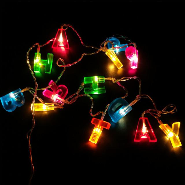 Happy Birthday Letter Shaped LED String Light