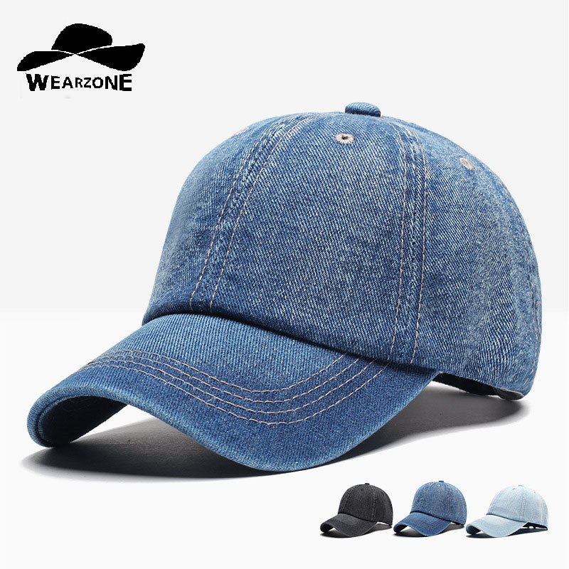 Denim Baseball Cap Men Snapback Caps Brand Bone Hats For Women Jeans Denim Blank Gorras ...