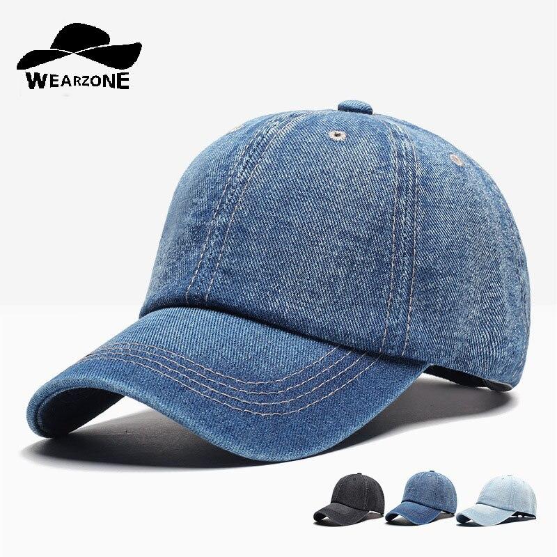Gorra de béisbol de mezclilla para hombre Gorras Snapback marca sombreros  de hueso para mujer Jeans de mezclilla Gorras blancas Casquette gorra 2017 89fc30635d9