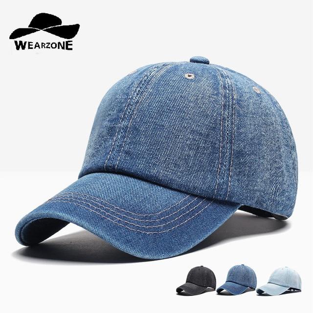 0a50b62ac2e4b Gorra de béisbol de mezclilla para hombre Gorras Snapback marca sombreros  de hueso para mujer Jeans