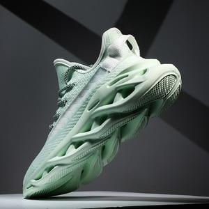 Image 3 - 新しい軽量男性の靴男性カジュアルシューズレースアップスニーカー夏通気性の男性フラットシューズ、男性靴chaussureオム
