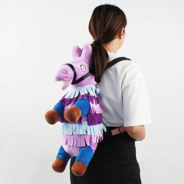 Battle Royale Stash Llamas Alpaca Cosplay Backpack Rainbow Horse School Bag Plush Toys Children Halloween Gifts