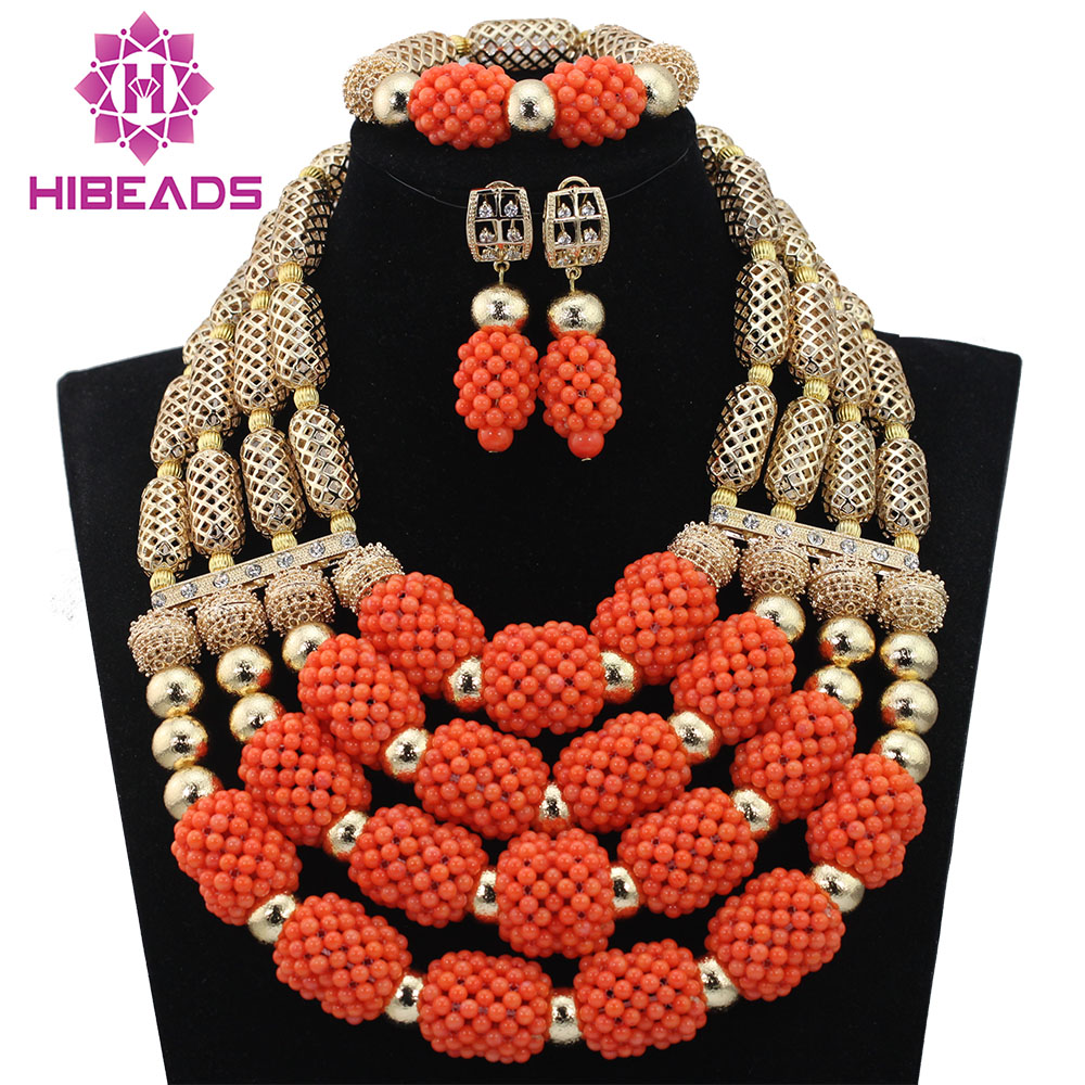 Christmas African Coral Jewelry Beads Set Luxury 4 Step Nigerian Wedding Bridal Statement Jewelry Set Women Gift Free ShipABL809Christmas African Coral Jewelry Beads Set Luxury 4 Step Nigerian Wedding Bridal Statement Jewelry Set Women Gift Free ShipABL809