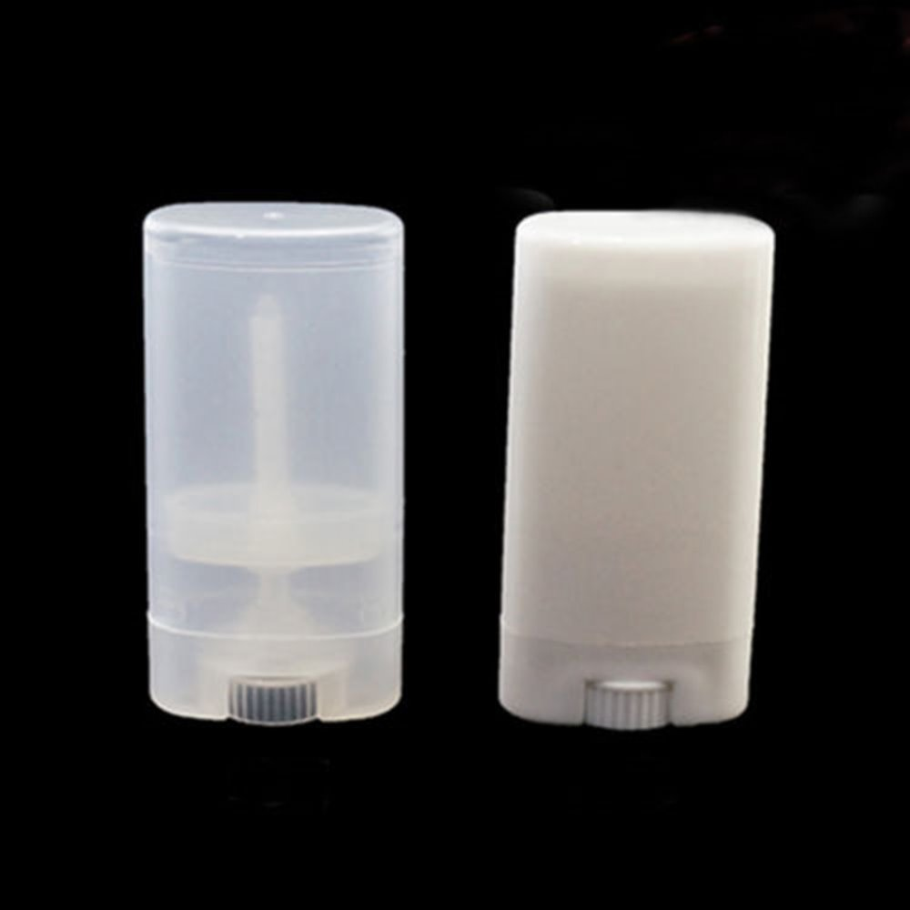 15g Oval Round Empty Lipstick Balm Tube Containers Deodorant Case Bottle Jar DIY