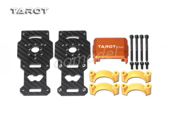 Tarot TL96026-02 Dia 25MM Motor Mount Carbon Fiber / Orange Tarot multirotor multicopter Spare parts  FreeTrack Shipping tarot 2 axis camera mount gyro zyx22 tarot multirotor spare parts freetrack shipping