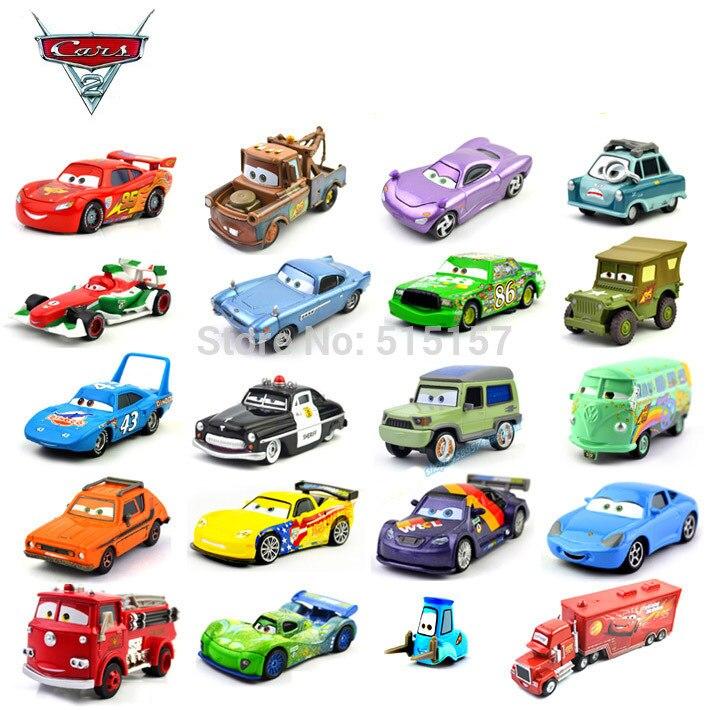 100% original toy cars pixar set diecast metal 1:55 kids