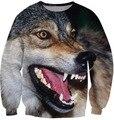 Новые Приходят Fierce животных Толстовка Crewneck Wolf Спайк О-Образным Вырезом Толстовки Перемычки Джерси Наряды Топы Бесплатная Доставка