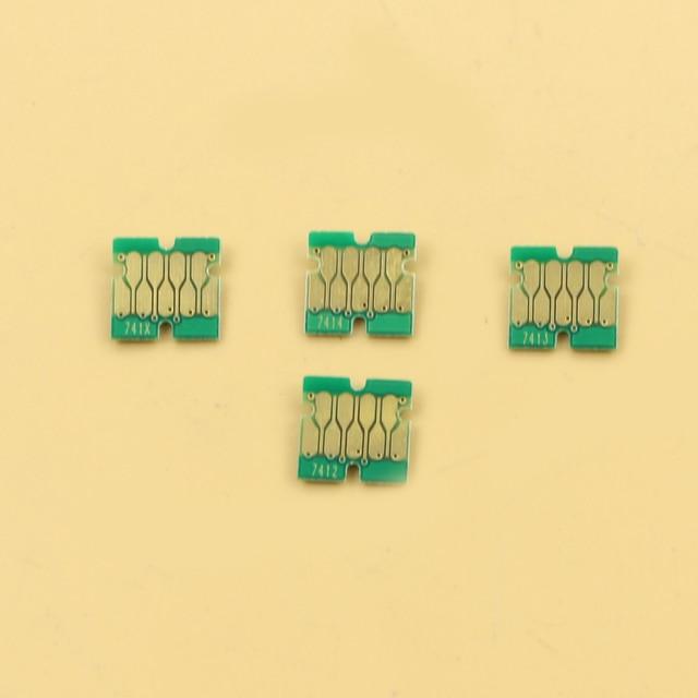 400 PCS ใหม่ล่าสุด F6200 ชิปสำหรับ Epson SC F9200 F7200 F6270 F9270 F7270 ชิป 100 Cyan, 100 M, 100 Y, 10BK, 90HDK