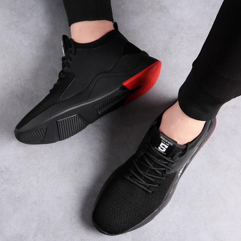 Mocassins Mode Haute Mâle 2019 Nouveaux Qualité De Sneakers Respirant Homme Noir Hommes Adulte Printemps Chaussures Marque Casual Confortable Fg1qvp16w