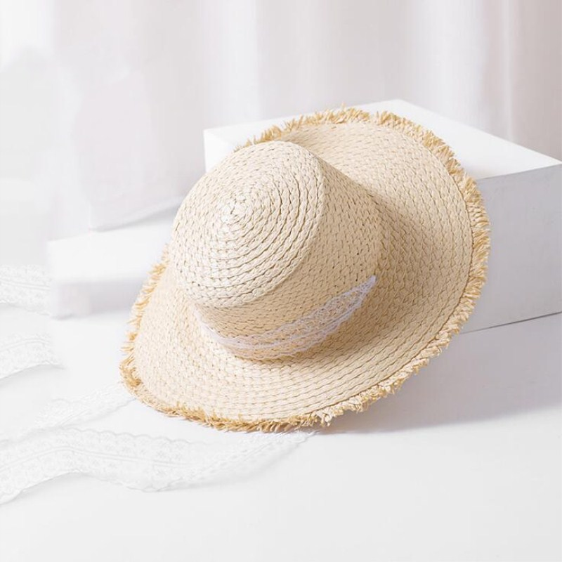 2018 Summer Boater Hats For Women Straw Sun Hat Lady Girls Lace Ribbon Bow  Beach Hat Floppy Female Travel Folding Chapeu 0f01d236530