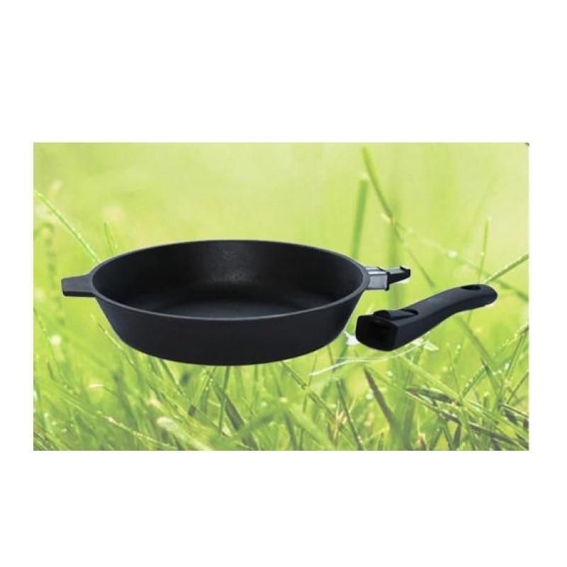 Сковорода-гриль Камская посуда, 28 см, с бакелитовой ручкой