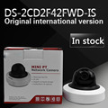 Free shipping in stock Wholesale English Version IP Camera 4MP WDR Mini PTZ Network Camera DS-2CD2F42FWD-IS
