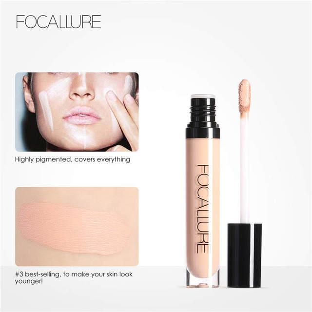 FOCALLURE Eye Concealer & Base 7 Colors Full Coverage Suit for All Color Skin Face/Eye Makeup Liquid Concealer 2