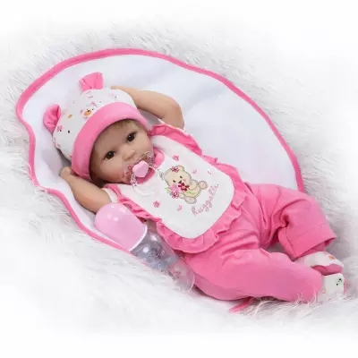 New wholesale Soft Silicone Lifelike Bonecas Baby newborn realistic magnetic pacifier bebe doll reborn for child gift