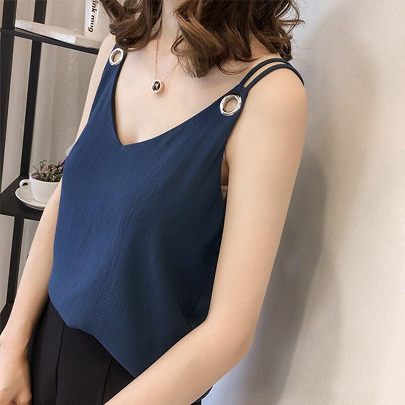 Womens Tops And Blouses Chiffon Women Blouses Women Sleeveless Shirts Ladies Tops Plus Size XXXL/4XL Blusas Femininas Elegante