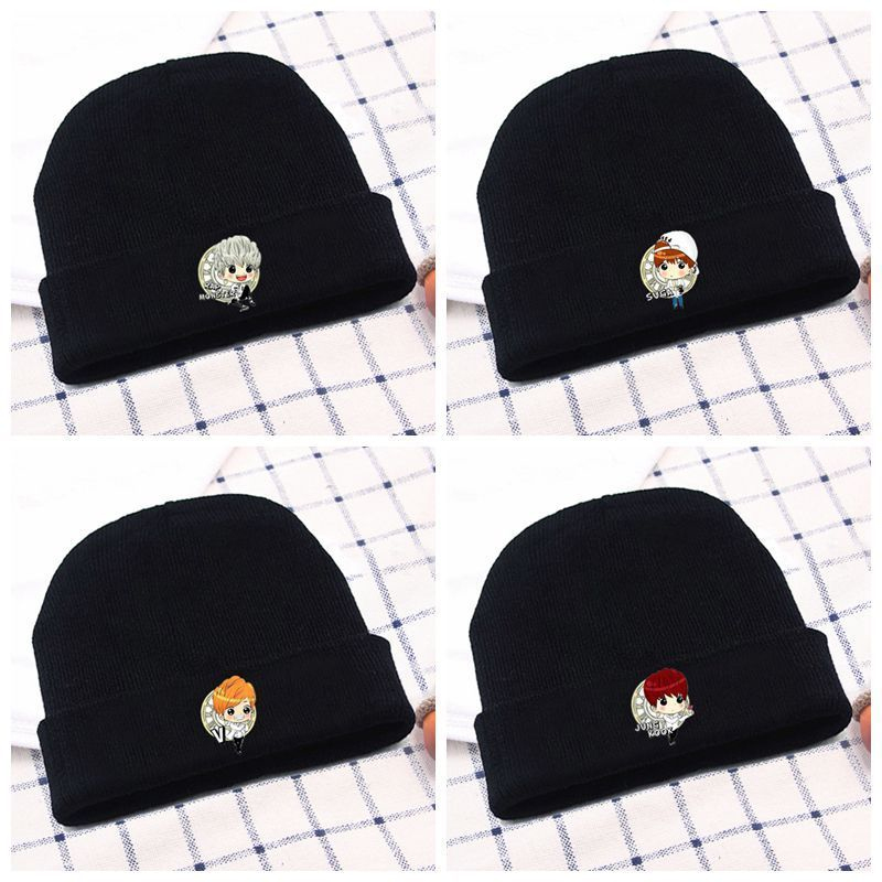 Original New Kids Beanie Winter Cotton Embroidery Crown Hats Newborn Baby Skullies Beanies Knitted Cap Girls Boys Autumn Solid Soft Hat To Enjoy High Reputation In The International Market Boy's Accessories Boy's Hats