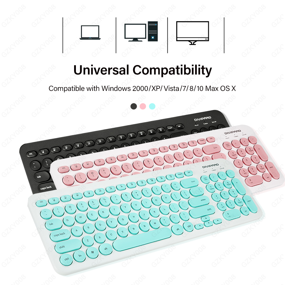 Wired Keyboard Multimedia USB Keyboard For Laptop PC Ultra Thin Quiet Small Size 96 Keys Pink/Green/Black Color Choice GZKY008