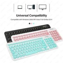 Проводная клавиатура мультимедиа USB клавиатура для ноутбука ПК ультра тонкий тихий маленький размер 96 клавиш розовый/зеленый/черный выбор цвета GZKY008
