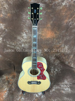 2018 China Factory New Solid Spruce Top Two Sides And Back Leaf Streaks 39 J200P Free