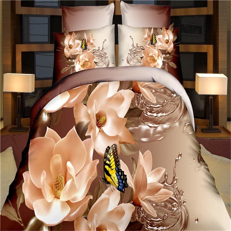 Textiles Para el hogar, Lirio Mariposa Patrón de Impresión 3D Juegos de Cama Que