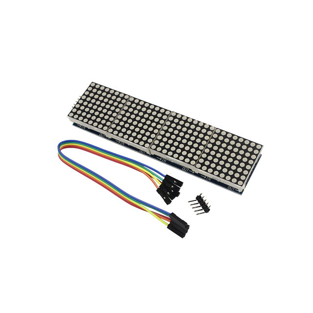 MAX7219 Dot Matrix Module Microcontroller 4 in 1 Display With 5 Pins Line