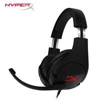 Последняя KINGSTON HyperX Cloud Stinger головная повязка легкий комфорт двойной звук Игровая гарнитура Регулируемая громкость с микрофоном