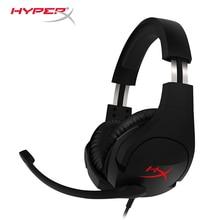 Mais recente kingston hyperx nuvem stinger headband conforto leve duplo som jogo fone de ouvido volume ajustável com um microfone