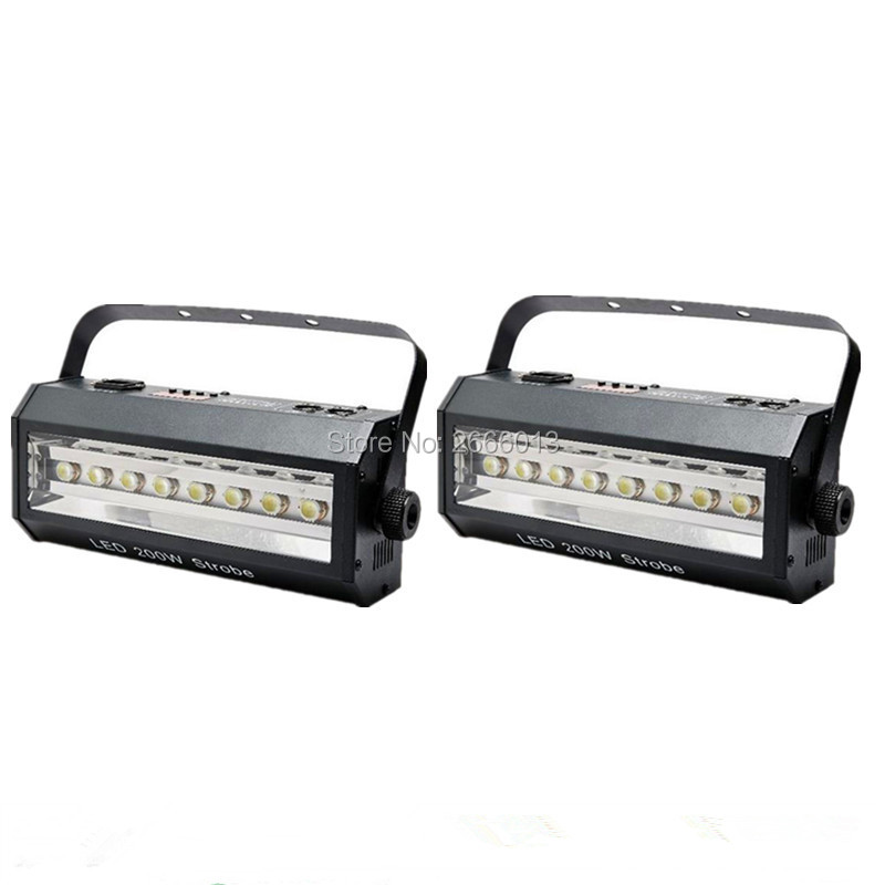 2PCS LED 200W Strobe Light For Party Disco DJ Bar Light Show ,Stroboscope 200W Strong Flash Light With DHL/FEDEX Free Shipping free dhl ups fedex ship 13 5 72w 2700lm 10 30v 6500k led working bar curved option wire of harness led bar light