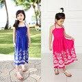 2016 spring summer children's clothing  girls dress undertakes Bohemia cotton beach condole belt of the dress