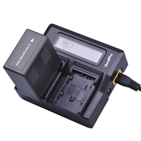 1pcs VW VBG6 VWVBG6 VBG6 VW VBG6GK Batteries 6000mah +Ultra LCD Dual fast Charger Kits for Panasonic AG AC160A, AG AC7, AG AC130