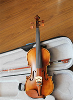 Free Shipping Advanced Hand Made & Varnished 4/4 Violin Outfit / Free Case Bow extra strings