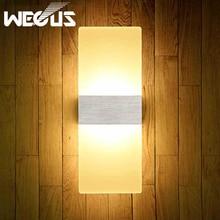 Led moderno acrílico lámpara de pared 110 V 220 V 8 W luz de noche dormitorio estudio foyer decoración Aplique