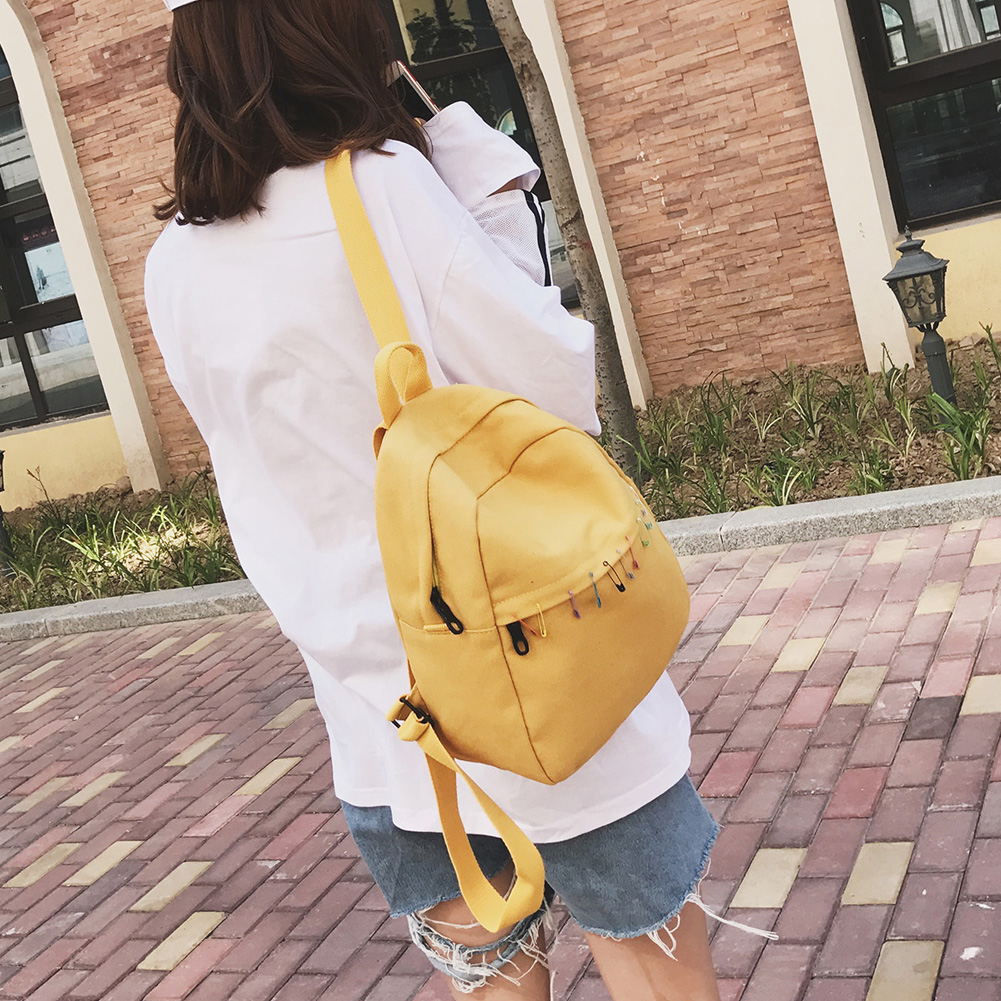 MOJOYCE Preppy Chic Women Canvas Backpack Female Candy Color Travel Rucksack Casual Girls School Bag Mochila Escolar