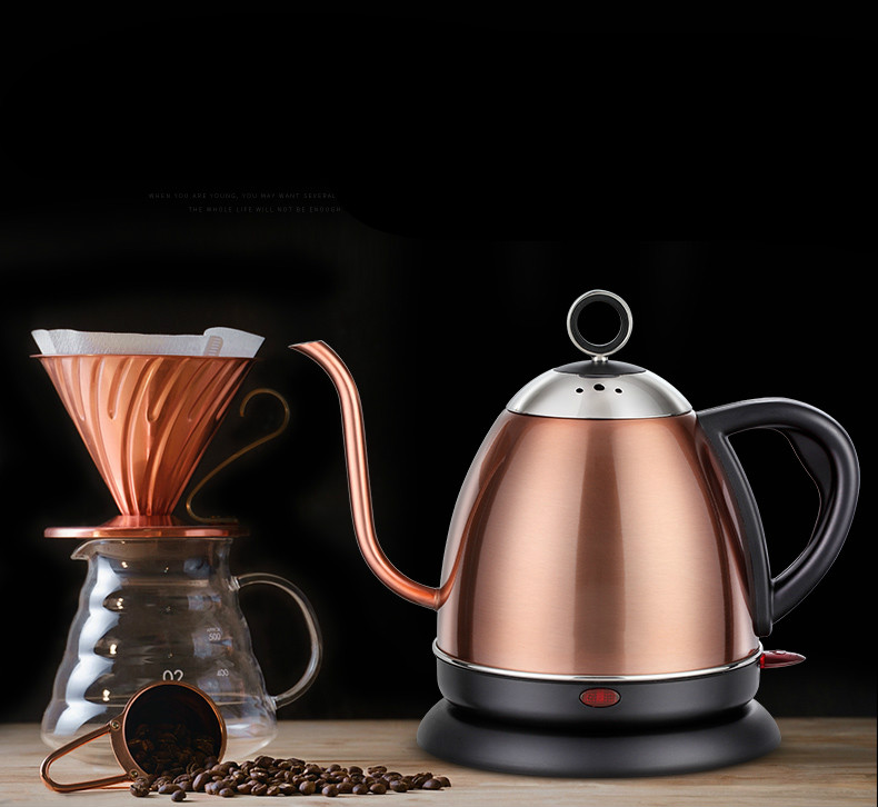 Slender mouth electric kettle 304 stainless steel mini household blister automatic power cut small capacity slender mouth electric kettle 304 stainless steel mini household blister automatic power cut small capacity