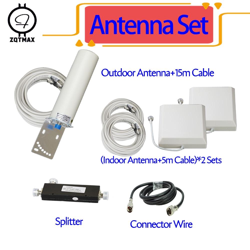 ZQTMAX 2g 3g 4g Antenne pour amplificateur de signal cellulaire 800 850 900 1800 1900 2100 2300 2600 mhz CDMA GSM DCS WCDMA PCS UMTS LTE