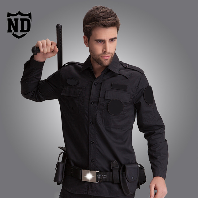 Servicios de seguridad de otoño de manga larga negro ropa de entrenamiento de seguridad de la propiedad Para Hombre Primavera ropa tactical gear envío gratis