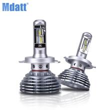 Mdatt carlight Bulbs Conversion Kit-H11 H8 H9 2019 New Gen Adjustable Beam 120W 12000LM 6000K H1 H7 9005 9006 H4 LED