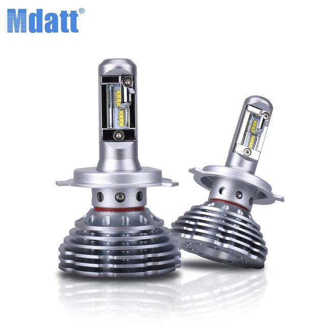 Mdatt carlight 전구 변환 Kit H11 H8 H9 2019 새로운 세대 조절 빔 120W 12000LM 6000K H1 H7 9005 9006 H4 LED