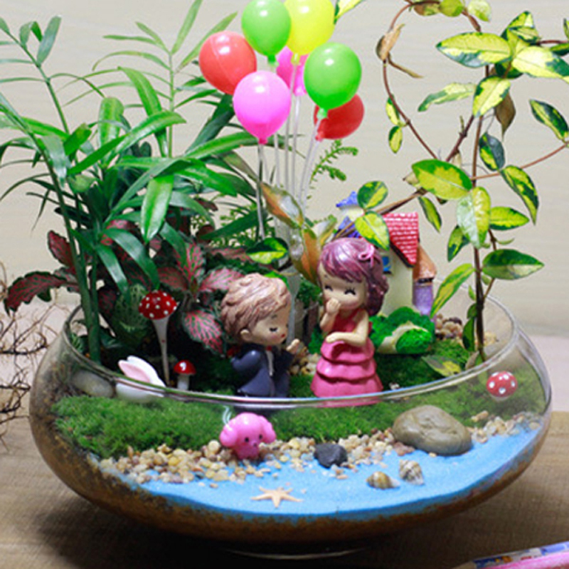 11pcs wedding dollhouse miniature groom bride plant pot mini fairy garden toy terrarium baison. Black Bedroom Furniture Sets. Home Design Ideas
