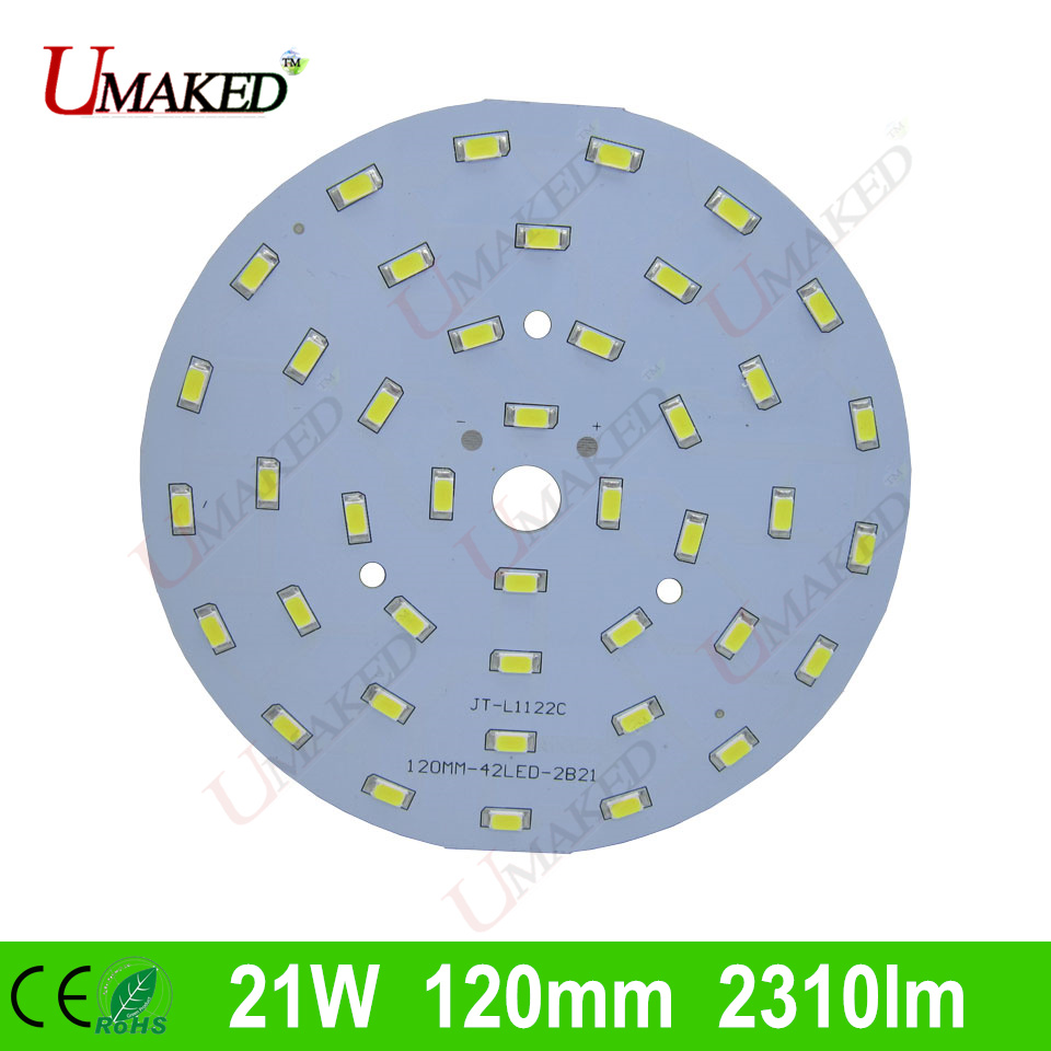 21W 120mm 2310lm LED PCB with smd5730 chips installed, aluminum plate base for bulb light, ceiling light, LED lamps 10pcs led aluminum plate 40mm for 5w 5730 smd heat sink