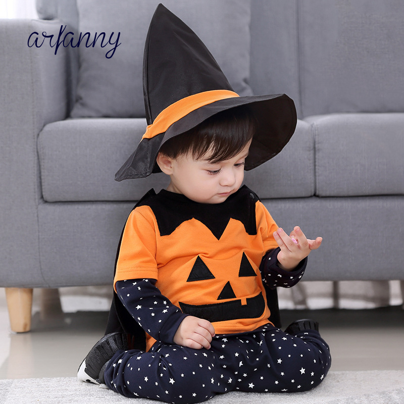 New Year Carnival Costume kids Halloween pumpkin Baby Boy Suit Cosplay Clothes 4 PieceSet infant Fantasia Holiday event outfits new year carnival costume kids halloween pumpkin baby boy suit cosplay clothes 4 pieceset infant fantasia holiday event outfits