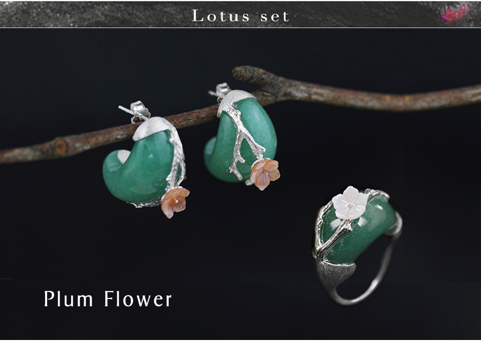 Silver with Green Stone-2
