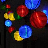 4M 10led solar lantern string lights pendant lamp garden light for Christmas wedding party home decor outdoor lighting