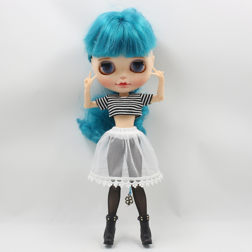 Neo Blythe Doll Crop Shirt with Leggings Underwear & Lace Skirt 3