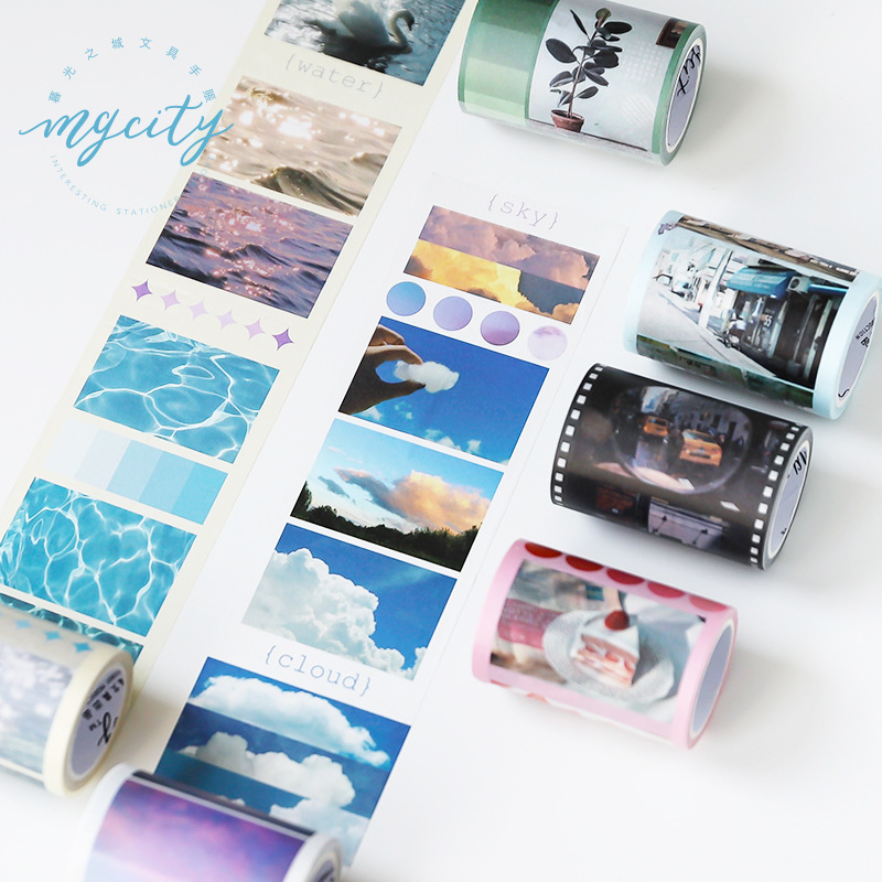 Blue Sky Cloud Washi Tape Diy Scrapbooking Sticker Label Masking Tape School Office Supply Japanese Stationery
