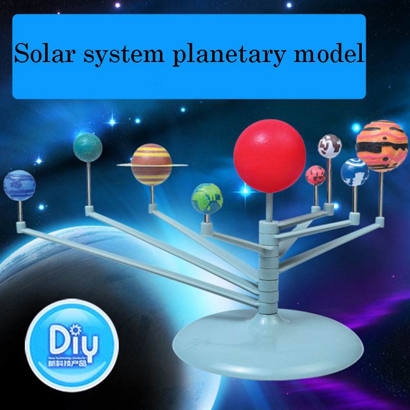 1 Set Kids Puzzle Toy Geography Teaching Resources Solar System Planetary Model DIY Assemble Toy Learning Tool Supplies ty 3 solar panel holders set for diy model toy white yellow