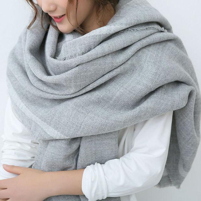 Winter Solid Scarf Women Cashmere Blends Cachecol feminino inverno De Caxemira De Inverno Poncho Stylish Warm Wrap Multipal